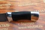 Булатный нож T005 - наборная кожа,алюминий