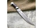 Нож охотничий из литого булата V007- казачий пластунский - алюминий,композит капа клена