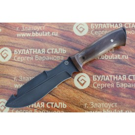 Нож охотничий из литого булата V001 (фултанг, орех)
