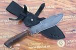 Нож охотничий из литого булата V001-орех