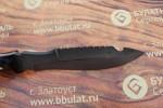Булатный нож-великан V001 (фултанг, микарта)