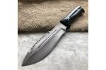 Нож охотничий из литого булата V001 (фултанг,граб)