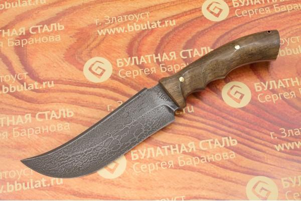 Нож охотничий из литого булата  V002-орех
