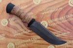Нож охотничий из литого булата V002-наборная береста