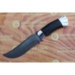 Нож охотничий из литого булата V002-алюминий, наборная кожа