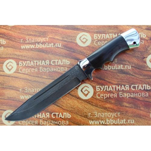 Нож охотничий из литого булата V006-V1 - граб, алюминий