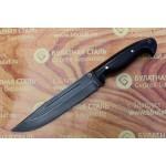 Нож охотничий из литого булата V006 (фултанг, граб)