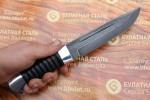 Нож охотничий из литого булата V006G - граб, алюминий