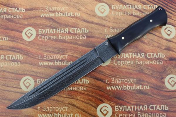 Нож охотничий из литого булата V007G-V2-казачий пластунский