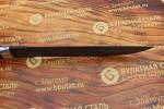 Нож охотничий из литого булата V007- казачий пластунский - алюминий,наборная кожа