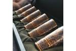 Золоченый набор рюмок - гильз (6 шт, коробка)
